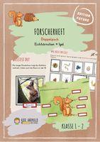 doppelpack forscherheft: eichhörnchen + igel