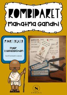 Kombipaket Mahatma Gandhi Flyer Lesezeichen