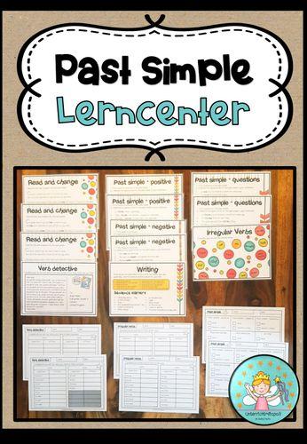 Past Simple Stationenlernen Lerntheke Differenziert Zum Uben