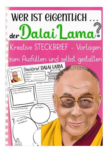Dalai Lama Steckbrief - Unterrichtsmaterial in den Fächern