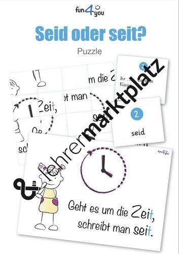 Seid oder seit - Puzzle - Rechtschreibung