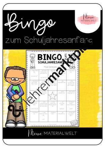 Kennenlernen bingo