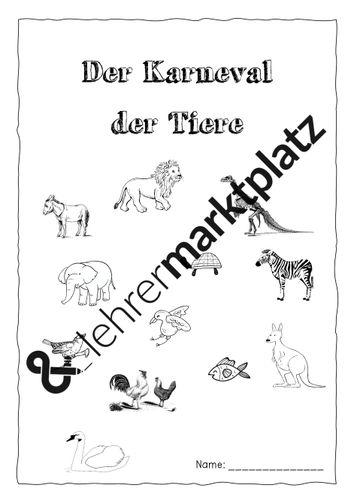 karneval der tiere  ein arbeitsheft  unterrichtsmaterial