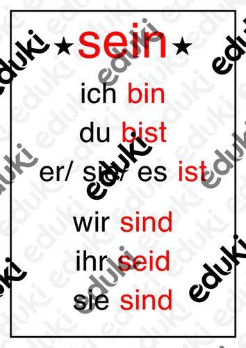 Konjugation deutsch sein Konjugation estar