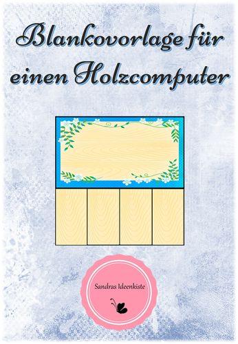 blankovorlage für einen holzcomputer  unterrichtsmaterial