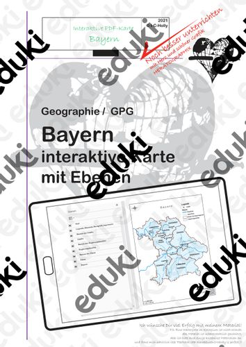 Bayern arbeitsblatt karte Rund um