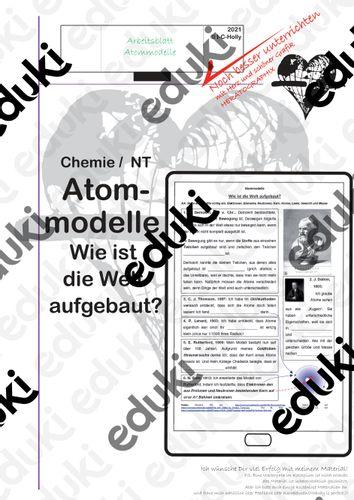Atomodelle 100 Jahre