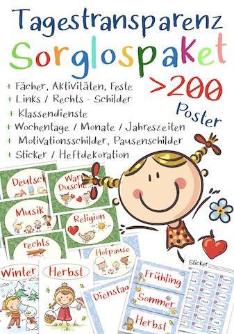 tagestransparenz poster grundschule kostenlos | download