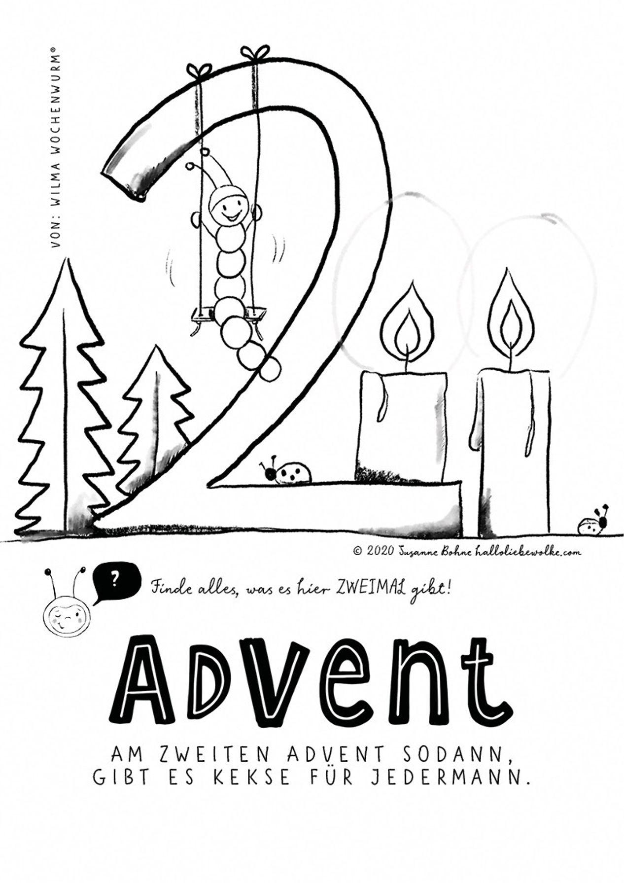 ausmalbilder advent  malvorlagen an weihnachten von wilma